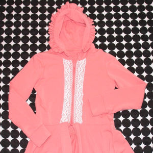 Persnickety Pink Victoria Jacket White Lace Size 8